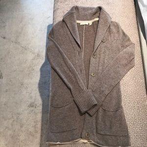 Cashmere Inhabit brand long cardigan sweater